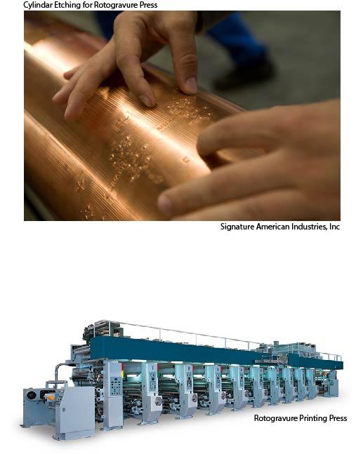 Rotogravure Print Cylinder