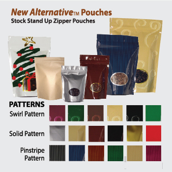 New Alternative TM  Stand Up Zipper Pouches