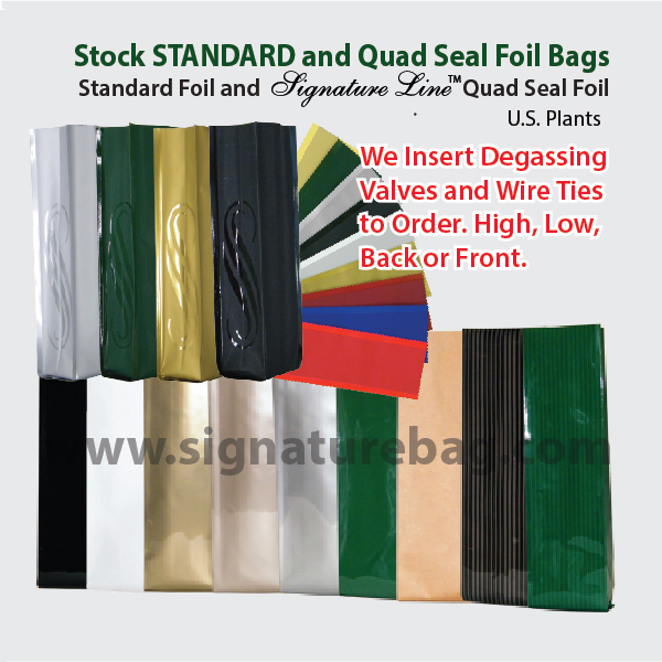 Standard Side Gusset Foil Coffee Bags