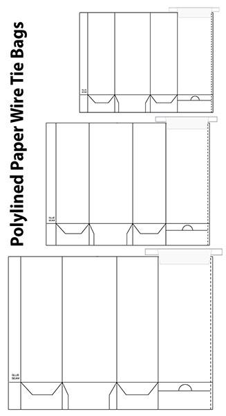 polylined paper templates signaturebag