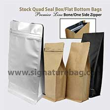Signature Packaging Box Bottom Pouches